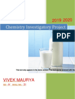 project of chemistry