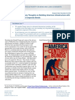 Century Bonds - Preliminary Thoughts on Building American Infrastructure With Long-Dated Treasury and Corporate Bonds