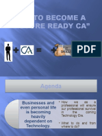 """""""HOW To be A Future Ready CA"""" PPT"""