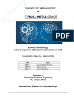 project report on artificial intelligence
