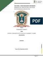 Aportes y Desaciertos de El Plan Piloto ,Plandemet y Planmet