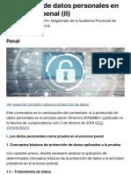 Protección de datos personales en el proceso penal (II) - El Derecho - Derecho Tic, Penal
