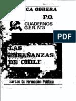 Cuaderno GER No. 3. Las Enseñanzas de Chile