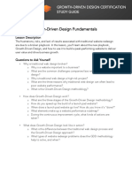GROWTH-DRIVEN DESIGN CERTIFICATION STUDY GUIDE