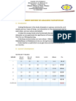 Accomplishment Report in Araling Panlipunan 2019 2020