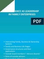 Governance as Leadership in Family Enterprises