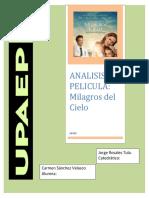 Analisis Película- Milagros Del Cielo( TAREA)