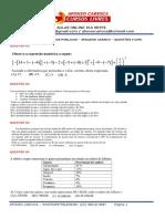 Maratona de Exercícios Matemática - Concurso Senador Canedo - Lista 06