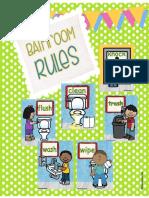 Bathroom Rules Freebie