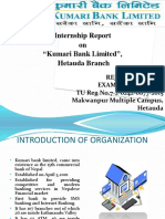 Kumari Bank Internship Report Presentation