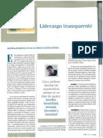 Liderazgo Transparente Manuel Bestratén NTP Psicosociologia