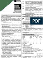 Sharp Calculator Manual
