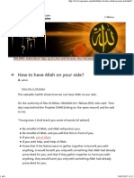 How to Have Allah on Your Side IqraSense.com