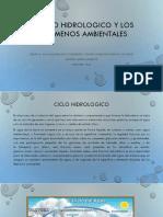 El Ciclo Hidrologico y Los Fenomenos Ambientales