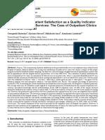Measurement of Patient Satisfaction