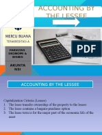Accounting by the Lesseee