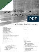 A Obrigação Como Processo - Clóvis v. Do Couto e Silva