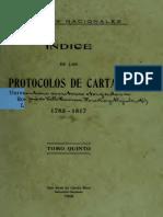 005_Indice - Protocolos de Cartago - 1785 a 1817 T-V