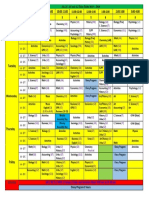 ALCG Time Table 2019-2020 - Updated 16th Sep 2019