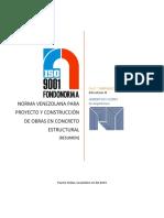 Resumen de Las Normas Para Los Proyectos y Construcción de Obras en Concreto Estructural Venezuela