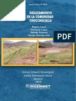 A6806 Deslizamiento Comunidad Chucchucalla Cusco