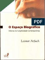 Leonor Arfuch - O Espaço Biográfico