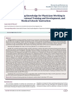 Essential training knowledge for physicians working in the field of professional training and development, and medical schools' instruction