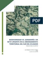 GANADERIA VS BIODIVERSIDAD Un Reto Urgente en el Ordenamiento Territorial  Del Sur de Ecuador