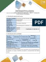 Guía de Actividades y Rúbrica de Evaluación - Fase 4 - Evaluación Final - Informe Psicológico