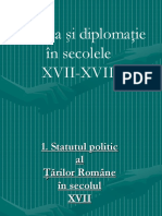 Politica si diplomatie sec XVII-XVIII