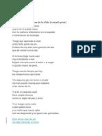 Cancion Para Los Dias de Lav Ida