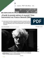¿Puede La Poesía Salvar El Mundo_ Una Entrevista Con Franco Berardi (Bifo)