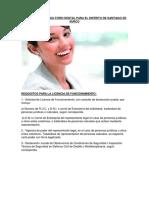 Apertura de Consultorio Dental Para El Distrito de Santiago de Surco