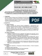 Directiva de finalizacion del año escolar 2019