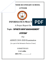 Ip Project  On Sports Shop Management System