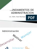 FUNDAMENTOS DE LA ADMINISTRACION