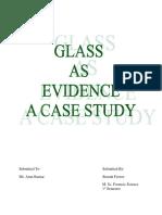 Glass as Evidence- Case Study