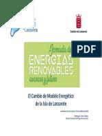 Cambio de Modelo Energético de La Isla de Lanzarote