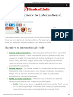 Write Any Two Barriers of International Business