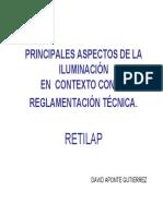 Principales aspectos de la iluminación en el contexto con la reglamentación técnica