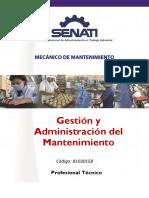 89000158 Gestion y Administración de Mantenimiento