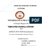 Ip Project on Employee Payroll Management