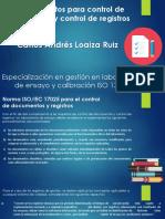 Procedimientos Para Control de Documentos y Control de Registros
