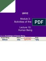 UHV2 M3 L10 - Human Being