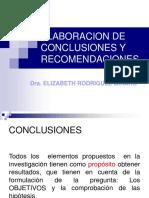 Elaboracion de Conclusiones y Recomendaciones