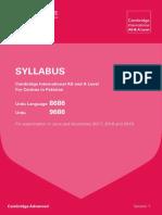 Urdu 2017 2019 Syllabus