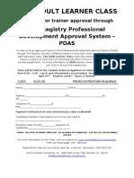 Adult Learner 110127 Reg Form