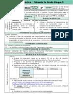 Plan 5to Grado - Bloque 5 Matemáticas (2017-2018)