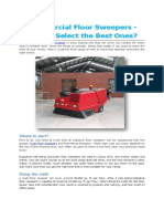 Commercial Floor Sweepers - How to Select the Best Ones?