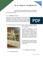 Calibración de Frascos Volumétricos